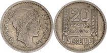 Algérie 20 Francs République Française - Turin 1956