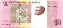 Angola 10 Kwanzas A.A. Neto, J.E. Dos Santos - Chutes Luena - 2012 (2017)
