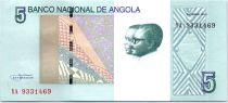 Angola 5 Kwanzas A.A. Neto, J.E. Dos Santos - Chutes Ruacana - 2012 (2017)