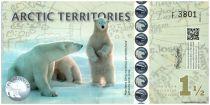 Antarctique et Arctique 1,5 Polar dollars, Ours - Svalbard - 2014