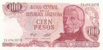 Argentine 100 Pesos, J. San Martin - Ushuaia J. San Martin - Port d´Ushuaia - 1976