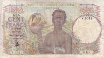 Banque de l´Afrique Occidentale 100 Francs Africaine, ananas - Famille - 1948