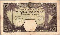 Banque de l´Afrique Occidentale 25 Francs Grand-Bassam - Eléphant - 1923