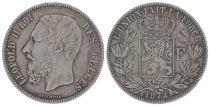 Belgique 5 Francs Léopold II - Armoiries - 1872