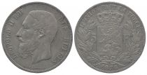 Belgique 5 Francs Léopold II - Armoiries - 1876
