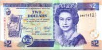 Belize 2 Dollar Elizabeth II,  Ruines Maya de Belize - 2014 (2015)