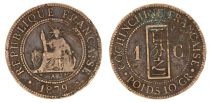Cochinchine 1 Cent Liberté assise Cochinchine - 1879 A Paris