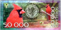 Colombie (Club de Medellin) 50000 Cafeteros, Colombia : Cardinalis Phoeniceus - 2016