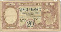 Djibouti 20 Francs Au paon
