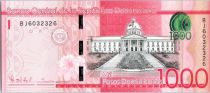 Dominicaine République 1000 Pesos Dominicanos Dominicanos, Palais National - Alcazar - 2015