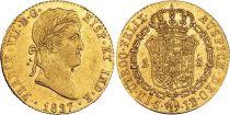 Espagne 2 Escudos Ferdinand VII - Armoiries 1827 S JB Seville