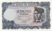 Espagne 500 Pesetas Jacinto Verdaguer - Vignolas d´Oris - 1971