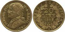 Etat Pontifical 20 Lire Pie IX - XXIII - 1868 R Rome