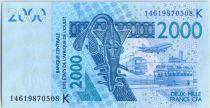 Etats de l´Afrique de l´Ouest 2000 Francs Masque - Mérous - 2014