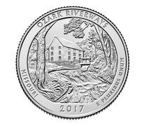Etats Unis d´Amérique 1/4 Dollar Ozark National Scenic - P Philadelphie - 2017
