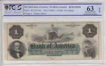 Etats Unis d´Amérique 1 dollar, Bank of América, Providence - 1860 - PCGS 63OPQ