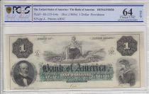 Etats Unis d´Amérique 1 dollar, Bank of América, Providence - 1860 - PCGS 64OPQ
