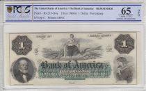 Etats Unis d´Amérique 1 dollar, Bank of América, Providence - 1860 - PCGS 65OPQ