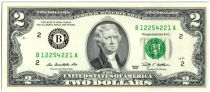 Etats Unis d´Amérique 2 Dollars Jefferson - 2009 B2 New York