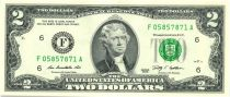 Etats Unis d´Amérique 2 Dollars Jefferson - 2009 F6 Atlanta