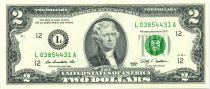 Etats Unis d´Amérique 2 Dollars Jefferson - 2009 L12 San Francisco