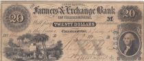 Etats Unis d´Amérique 20 dollars, Agriculteurs et Banque de change de Charleston - South Carolina - 1894