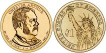 Etats Unis d´Amérique New.2012 1 Dollar, Arthur Chester - 2012 - P Philadelphie