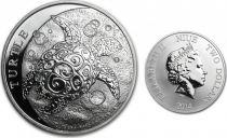 Fidji 1 Dollars Elisabeth II - 1/2 Once Argent Tortue 2014
