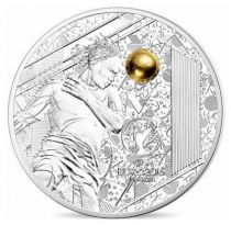 France - Monnaie de Paris 10 Euro UEFA - Euro de football - 2016 BE argent colorisée
