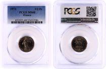 France 1/2 Francs Semeuse  - 1973 - PCGS MS 68