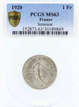 France 1 Franc Semeuse - 1920 - PCGS MS 63