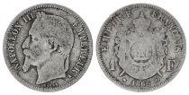 France 1 Francs Napoleon III - 1866 A Paris