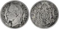 France 1 Francs Napoleon III - 1866 BB Strasbourg