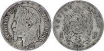 France 1 Francs Napoleon III - 1866 K Bordeaux