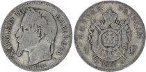 France 1 Francs Napoléon III - 1867 K Bordeaux