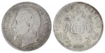 France 1 Francs Napoléon III - 1867 Petit BB Strasbourg