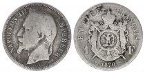 France 1 Francs Napoléon III - 1870 BB Strasbourg