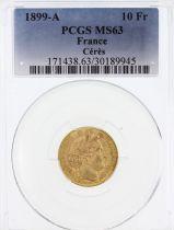 France 10 Francs Cérès - 3ème République 1899 A - PCGS MS 63