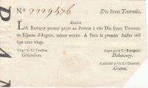 France 10 Livres Banque de Law - 01-07-1720, typographié - 2229476