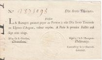 France 10 Livres Banque de Law - 01-07-1720, typographié - Division