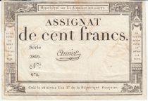 France 100 Francs 18 Nivose An III - 7.1.1795 - Sign. Amiot