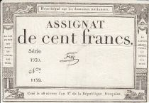 France 100 Francs 18 Nivose An III - 7.1.1795 - Sign. Fere