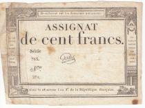 France 100 Francs 18 Nivose An III - 7.1.1795 - Sign. Godet