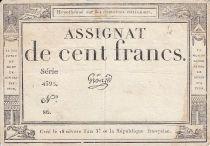 France 100 Francs 18 Nivose An III - 7.1.1795 - Sign. Gros