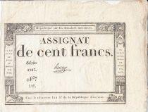 France 100 Francs 18 Nivose An III - 7.1.1795 - Sign. Henry