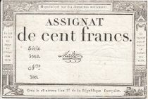 France 100 Francs 18 Nivose An III - 7.1.1795 - Sign. Malter