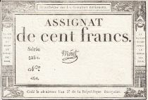 France 100 Francs 18 Nivose An III - 7.1.1795 - Sign. Moret