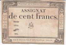 France 100 Francs 18 Nivose An III - 7.1.1795 - Sign. Vial - Fauté