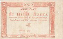 France 1000 Francs 18 Nivose An III - 7.1.1795 - Sign. Fere