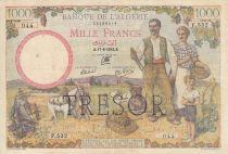 France 1000 Francs Banque de l\'Algérie - Surchargé Trésor 1000 F - Tete de Femme- 1942 Série F.532 004